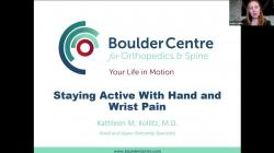 Dr. Kathleen Kollitz and Bridget Myers Discuss Staying Active With Hand & Wrist Pain